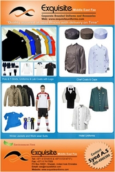 Corporate Uniforms =  Polos / Tshirts / Coveralls / Chef Coats / Winter Jacket  from EXQUISITE MIDDLE EAST FZC