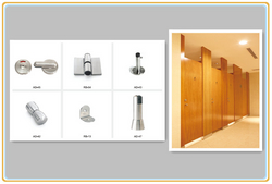 Phenolic HPL Board Public Toilet Partition from HANGZHOU KCROWN CONSTRUCTION & DECORATION MATERI