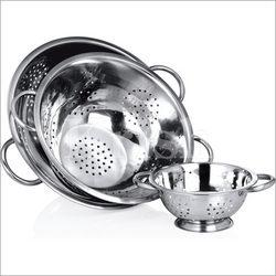 Deep Colander with pipe Handles from KRISH EXPORTS