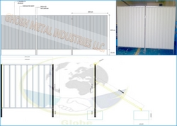 Fencing Sheet in Oman grey from GHOSH METAL INDUSTRIES LLC