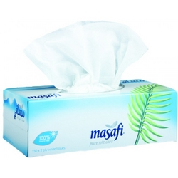 Masafi 2 ply tissue boxes from AVENSIA GENERAL TRADING LLC