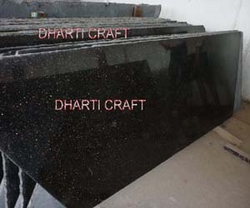 BLACK GALAXY GRANITE SLABS Supplier India from DHARTI CRAFT