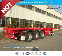 3 Axles 40FT Skeleton Semi Trailer from QINGDAO WUYUE AUTOMOBILE SALES CO.,LTD