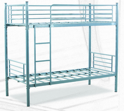 SILVER BUNK BED METAL BUNKER BEDS 044534894 BLACK HEAVY DUTY   from ABILITY TRADING LLC