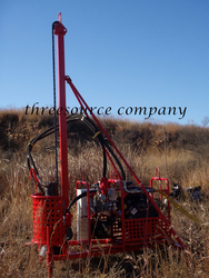 Man portable drilling rig oil prospecting from THREESOURCE EQUIPMENT COMPANY