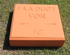 Duct marker supplier in Qatar from ALCON CONCRETE PRODUCTS FACTORY LLC