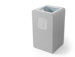 Concrete litter bin supplier in Abu Dhabi from ALCON CONCRETE PRODUCTS FACTORY LLC