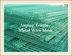 Double Ring Fence/Ornamental Double-Loop Wire Mesh Fence from ANPING TENGLU METAL WIRE MESH CO.LTD./INFO@STAINLESSSTEELWIREMESHFACTORY.COM