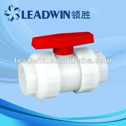 New Inventions White PVDF Union Ball Valve from LEADWIN TRADE LTD