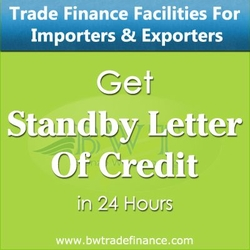 Avail Standby Letter of Credit (SBLC – MT760) for Importers and Exporters from BRONZE WING TRADING LLC