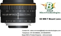 35 MM  & 50 MM F MOUNT MACHINE VISION LENS from BALAJI MICROTECHNOLOGIES PVT. LTD. (BMT)