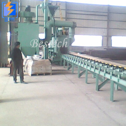 Steel Tube Outer Wall Shot Blasting Machine from QINGDAO BESTECH MACHINERY CO.,LTD