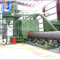 Steel Tube Outer Surface Shot Blasting Machine from QINGDAO BESTECH MACHINERY CO.,LTD