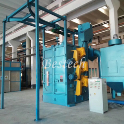 Hook Shot Blasting Machine for Large Valve Surface Cleaning from QINGDAO BESTECH MACHINERY CO.,LTD
