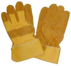 YELLOW GLOVES LEATHER