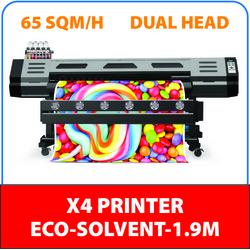 XENONS X4 ECO- SOLVENT PRINTER 1.9MTR DUAL HEAD