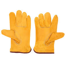CHEAP YELLOW LEATHER GLOVES