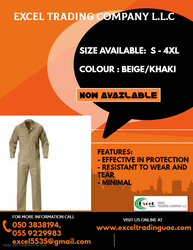 COVERALL SUPPLIER IN ABUDHABI, MUSSAFFAH , UAE
