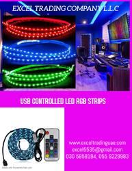 USB CONTROLLED LED RGB STRIP SUPPLIERS AND DEALERS IN ABUDHABI,AJMAN,ALAIN,RAS AL KHAIMAH,DUBAI,FUJARAH,UMM AL QUWAIN,ALL GCC COUNTRIES,KUWAIT,AFRICA ,MUSSAFAH ,UAE