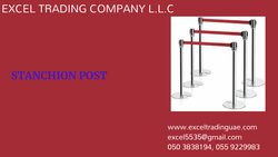 STANCHION POST SUPPLIERS AND DEALERS IN ABUDHABI,DUBAI,ALAIN,AJMAN,SHARJAH,RAS AL KHAIMAH,UMM AL QWAIN,MUSSAFAH,UAE