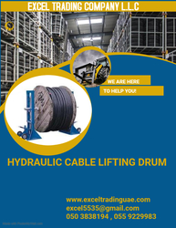 HYDRAULIC CABLE LIFTING DRUM SUPPLIERS AND DEALERS IN ABUDHABI,AJMAN,ALAIN,RAS AL KHAIMAH,DUBAI,FUJARAH,UMM AL QUWAIN,ALL GCC COUNTRIES,KUWAIT,AFRICA ,MUSSAFAH ,UAE