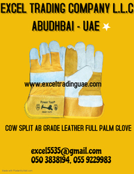COW SPLIT AB GRADE LEATHER FULL PALM GLOVE