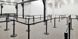 CROWD CONTROL Q MANAGER QUEUE BARRIERS TENCATE STANCHIONS AIRPORT POST SUPPLIERS FABRICATORS, COMPANY, DEALERS, CONTRACTORS DUBAI, UAE, ABU DHABI, OMAN, AFRICA, QATAR