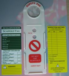 SCAFFOLDING TAG from GULF SAFETY EQUIPS TRADING LLC