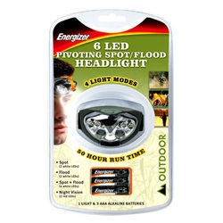 ENERGIZER HEADLIGHT 6LED from GULF SAFETY EQUIPS TRADING LLC