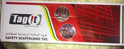 TAG IT SCAFFOLDING TAG from GULF SAFETY EQUIPS TRADING LLC