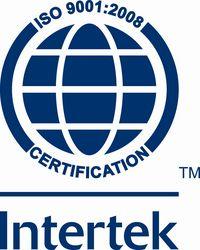 ISO 9001 : 2008 - Quality Management System from INTERTEK INTERNATIONAL - ISO CERTIFICATION BODY