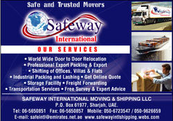 CLEARING & FORWARDING COMPANIES & AGENTS from SAFEWAY INTERNATIONAL MOVING & SHIPPING LLC