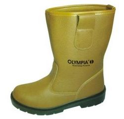 GUMBOOT LEATHER WITH STEEL TOE OLYMPIA BRAND  from SAFELAND TRADING L.L.C