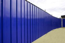 Perimeter Corrugated Profiled Fencing Sheet Hoarding Fence Suppliers Contractors Bird Pigeon Control Spikes, Fire Escape Chute, Exporters Company in Dubai, UAE, Abu Dhabi, RAK, Sharjah, Muscat, Oman, Ruwais, Al Ain, Iran, Africa from CHAMPIONS ENERGY, FENCE FENCING SUPPLIERS UAE, WWW.CHAMPIONS123.COM