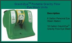 EYE WASH STATION PORTABLE GRAVITY FLOW from GULF SAFETY EQUIPS TRADING LLC