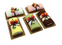 Unique Folded Cake Hand Towel Treats  from SHENZHEN MINGLIXUAN DIGITAL CO., LTD