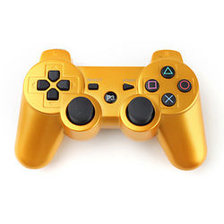 Golden DualShock 3 Wireless Bluetooth Controller  from SHENZHEN MINGLIXUAN DIGITAL CO., LTD