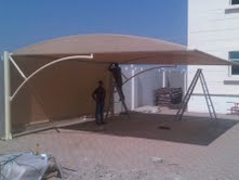 CAR PARK SHADE STRUCTURE  from AL SHERA DOORS & SHADES