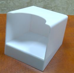 Square Paper Cube Holder in PS Plastic from AL BARSHAA PLASTIC PRODUCT COMPANY LLC