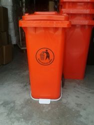 120 Ltr U Type Pedal Bin Orange Color from AL MAS CLEANING MAT. TR. L.L.C