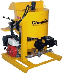 GAS POWERED, HYDRAULIC DRIVEN, SKID MOUNTED, GROUT