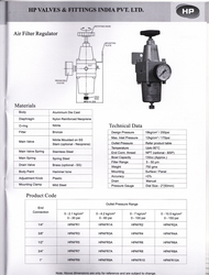 AIR FILTER REGULATOR from HP VALVES & FITTINGS FZE