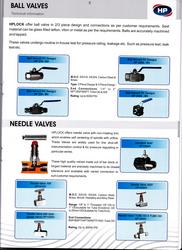 Needle Valves /Ball Valves from HP VALVES & FITTINGS FZE
