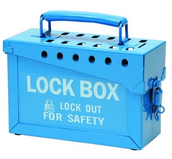BRADY Portable Metal Lock Box - Blue from SIS TECH GENERAL TRADING LLC