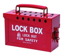 BRADY Portable Metal Lock Box - Red from SIS TECH GENERAL TRADING LLC