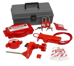 BRADY Valve Lockout Toolbox Kit With Brady Safety from SIS TECH GENERAL TRADING LLC