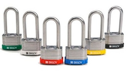 BRADY Keyed Different Shackle Steel Locks from SIS TECH GENERAL TRADING LLC