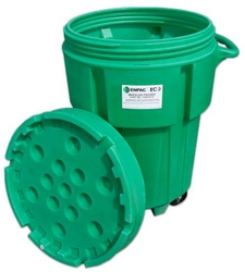 95-Gallon Wheeled ECO Poly-Spillpack from SIS TECH GENERAL TRADING LLC