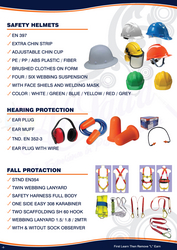 SAFETY HELMET, EAR MUFF,042222641SAFETY HARNESS from ABILITY TRADING LLC