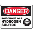 ACCUFORM SIGNS Poisonous Gas Hydrogen Sulfide Sign from WORLD WIDE DISTRIBUTION FZE